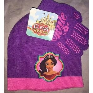 Avalor Disney Princess Girls Hat Glove Set NWT